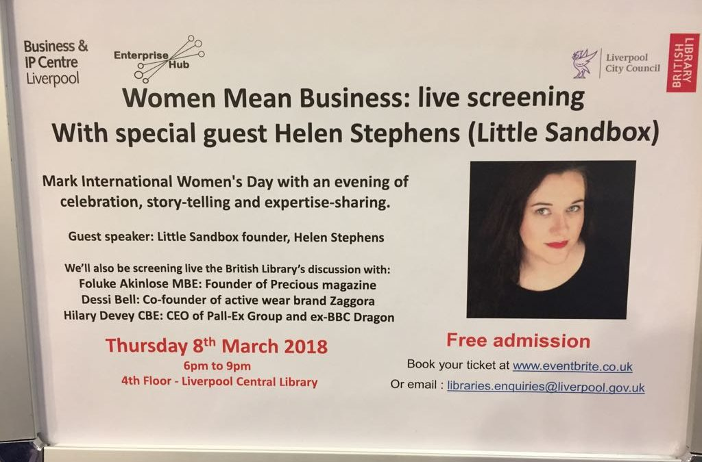 Public Talk: women mean business at Central Library, 08/03/18