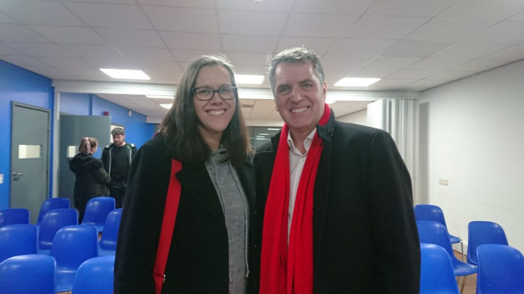 Helen Stephens with Steve Rotheram